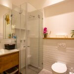Private bathroom and shower in the private treatment room